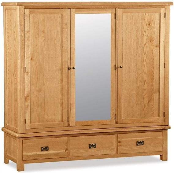 Global Home Salisbury Oak Wardrobe - Extra Large