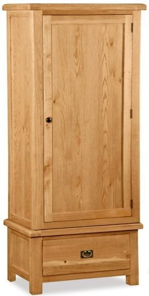 Global Home Salisbury Oak 1 Door 1 Drawer Wardrobe