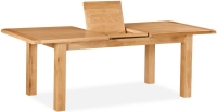 Global Home Salisbury Oak Compact Rectangular Butterfly Extending Dining Table - 120cm-165cm