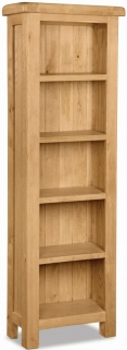 Global Home Salisbury Oak Bookcase - Slim