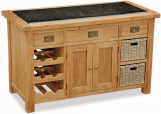 Global Home Salisbury Oak Kitchen Island