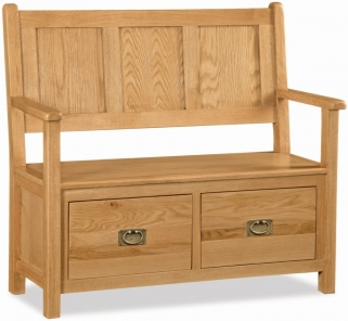 Global Home Salisbury Oak Monks Bench