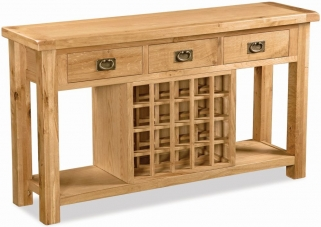 Global Home Salisbury Oak Sideboard - Open