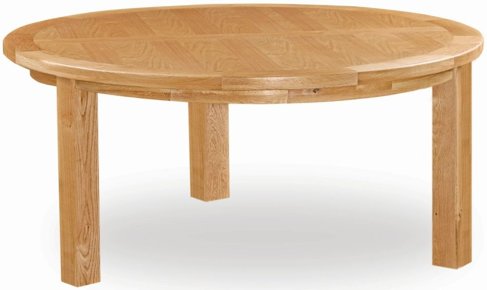 Global Home Salisbury Oak Round Fixed Top Dining Table - 150cm