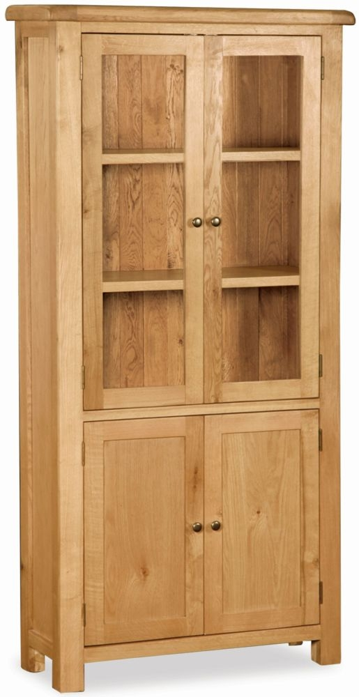 Global Home Salisbury Oak 4 Door Display Cabinet