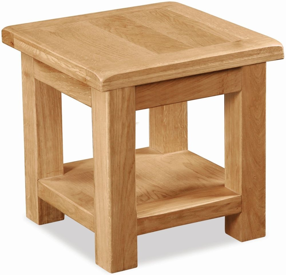 Global Home Salisbury Oak Lamp Table