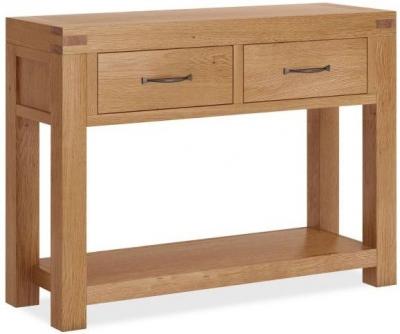 Global Home Sherwood Rustic Oak Console Table