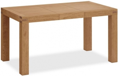 Global Home Sherwood Rustic Oak 110cm-145cm Extending Dining Table