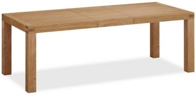 Global Home Sherwood Rustic Oak 180cm-230cm Extending Dining Table