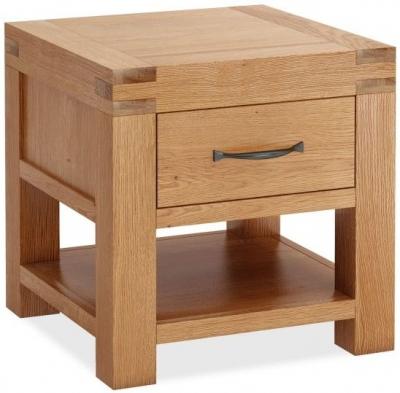Global Home Sherwood Rustic Oak Lamp Table