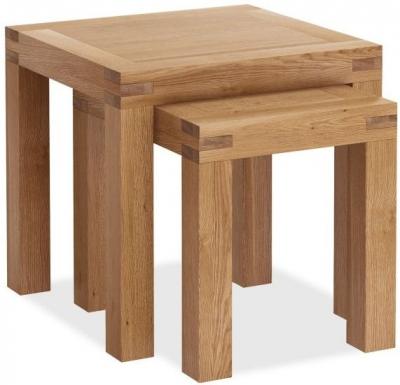 Global Home Sherwood Rustic Oak Nest of Tables