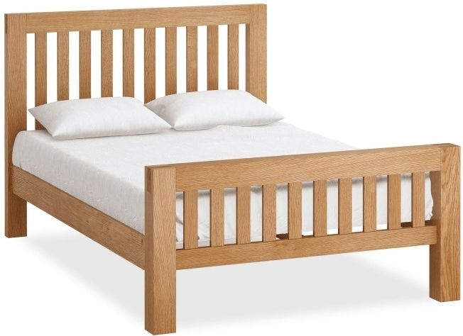 Global Home Sherwood Oak Bed - High Foot End