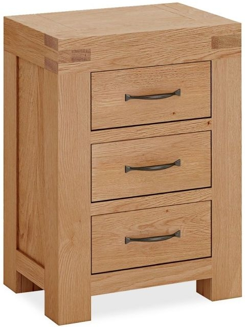 Global Home Sherwood Rustic Oak Bedside Cabinet