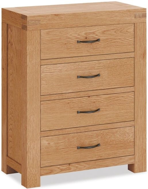 Global Home Sherwood Oak 4 Drawer Chest
