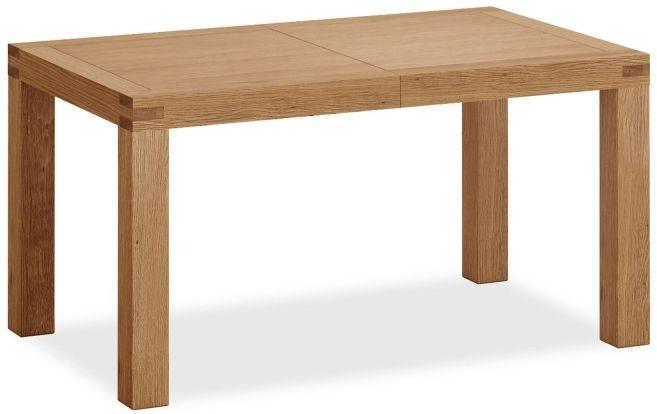 Global Home Sherwood Rustic Oak Medium Extending Dining Table