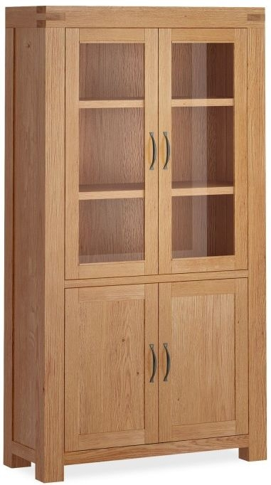 Global Home Sherwood Oak 4 Door Display Cabinet