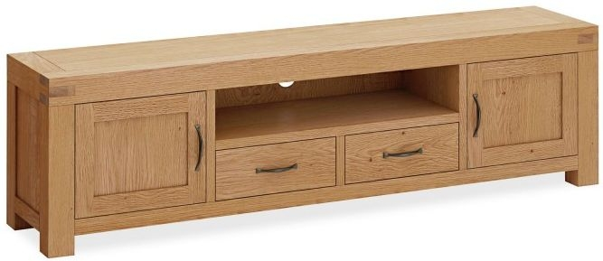 Global Home Sherwood Oak 2 Door 2 Drawer Extra Large TV Unit