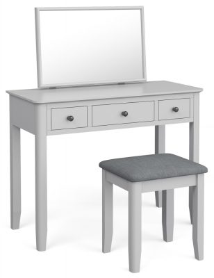 Global Home Stowe Grey Painted Dressing Table Set