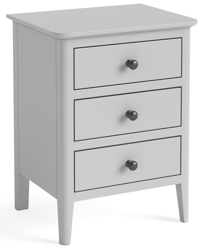 Global Home Stowe Grey Painted Bedside Cabinet