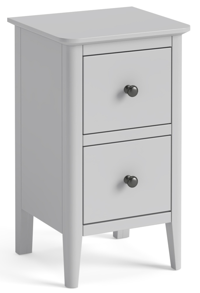 Global Home Stowe Grey Painted Narrow Bedside Cabinet