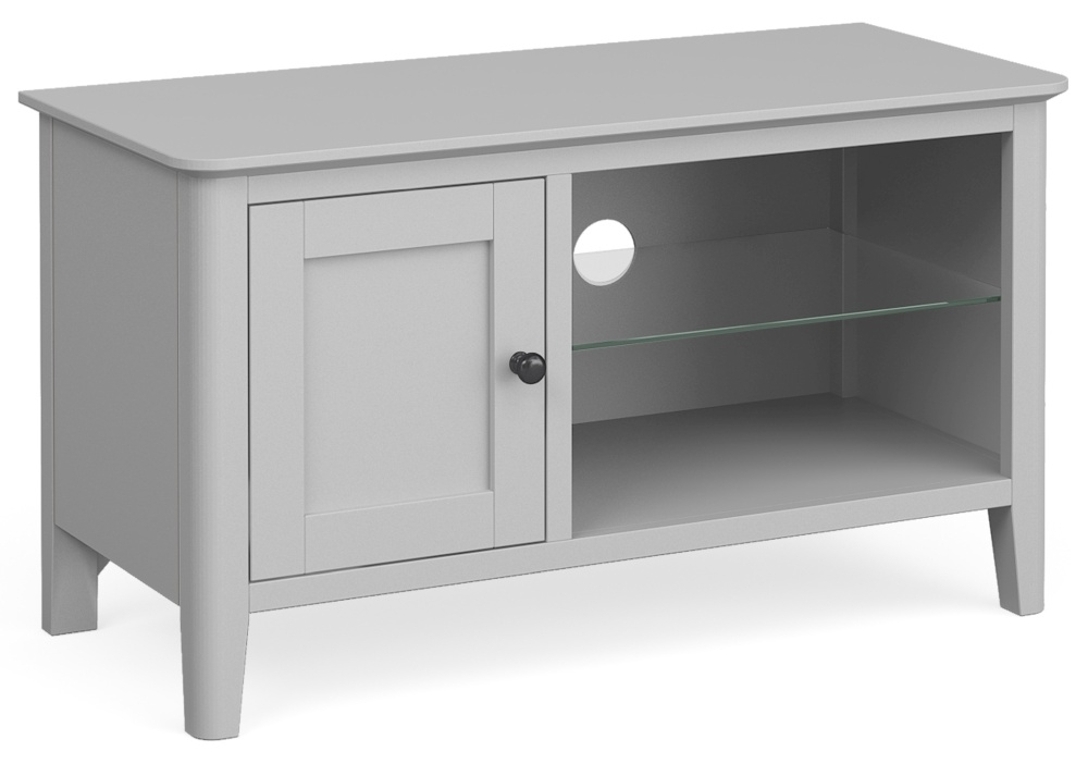 Global Home Stowe Grey Painted Small TV Unit