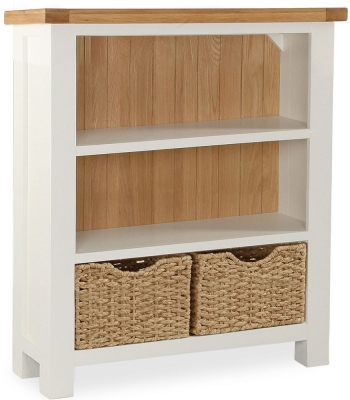 Suffolk Buttermilk Painted Low Bookcase