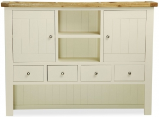 Suffolk Buttermilk Painted Hutch