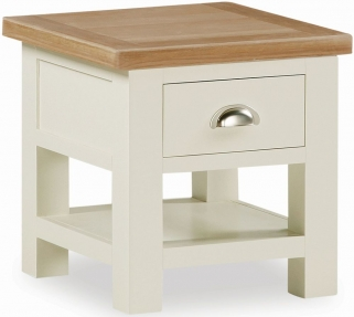 Suffolk Buttermilk Painted Lamp Table