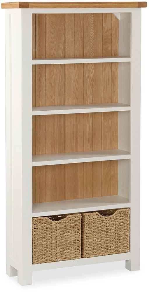 Global Home Suffolk Oak and Buttermilk Painted Large Bookcase
