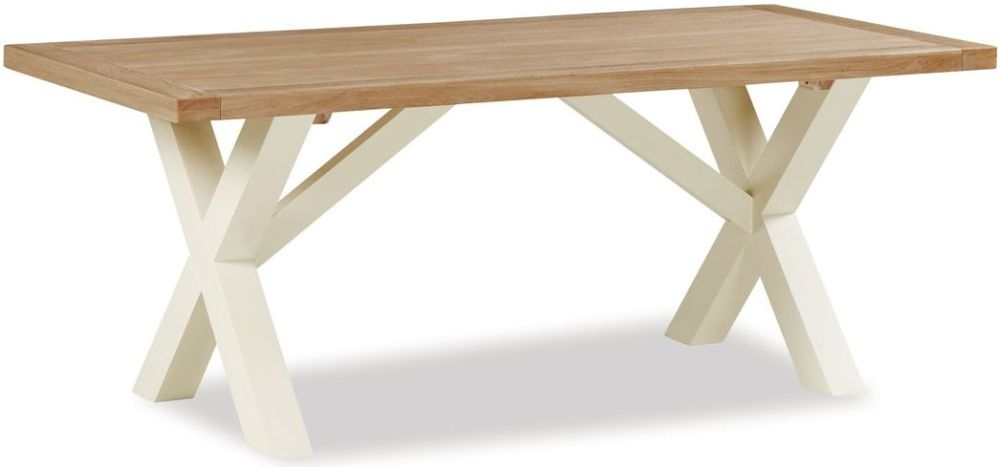 Global Home Suffolk Oak and Buttermilk Painted Dining Table