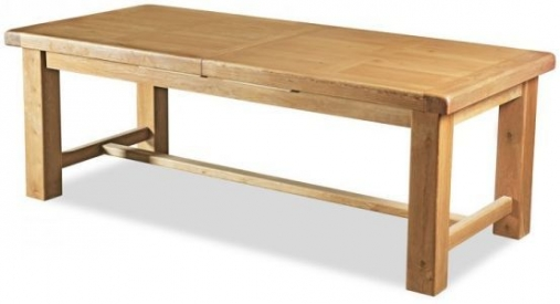 Buy global home vintage oak dining table large extending online cfs uk Global home furniture uk