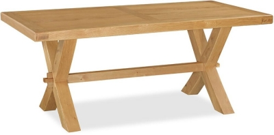 Global Home Vintage Oak Cross Dining Table