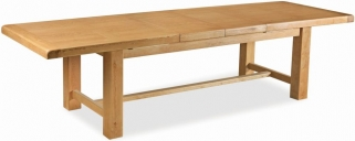Global Home Vintage Oak Dining Table - Extending