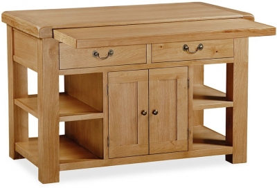 Global Home Vintage Oak Extending Kitchen Island