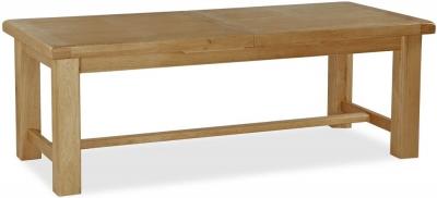 Global Home Vintage Oak Rectangular Extending Dining Table - 220cm-310cm