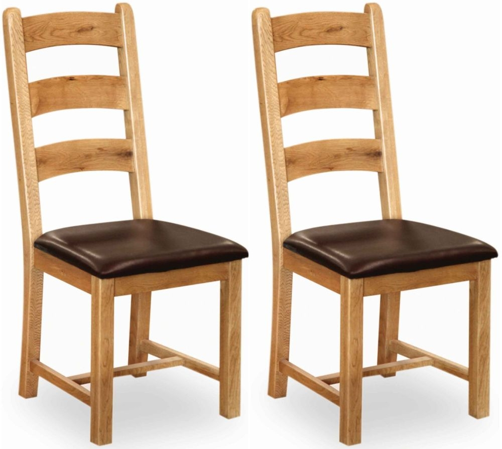 Global Home Vintage Oak Dining Chair (Pair)