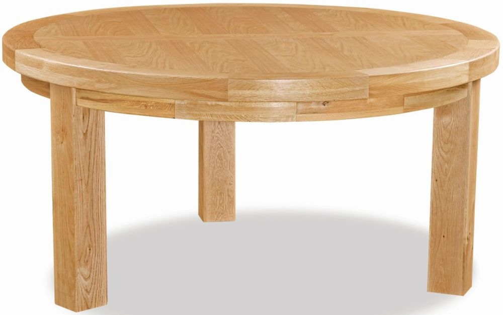 Global Home Vintage Oak Round Dining Table - 160cm