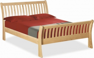 Global Home York Oak Bed - Sleigh