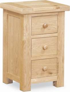 Global Home York Oak Bedside Cabinet