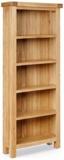 Global Home York Oak Bookcase - Slim
