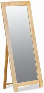 Global Home York Oak Cheval Mirror