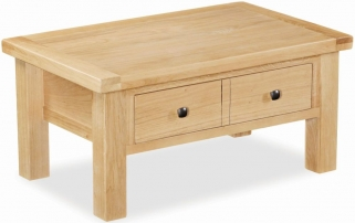 Global Home York Oak Coffee Table with Drawer