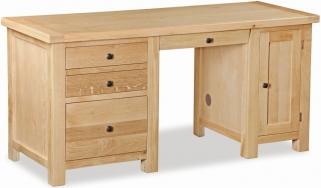 Global Home York Oak Desk - Double