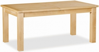 Global Home York Oak Dining Table - Compact Extending