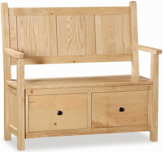 Global Home York Oak Monks Bench