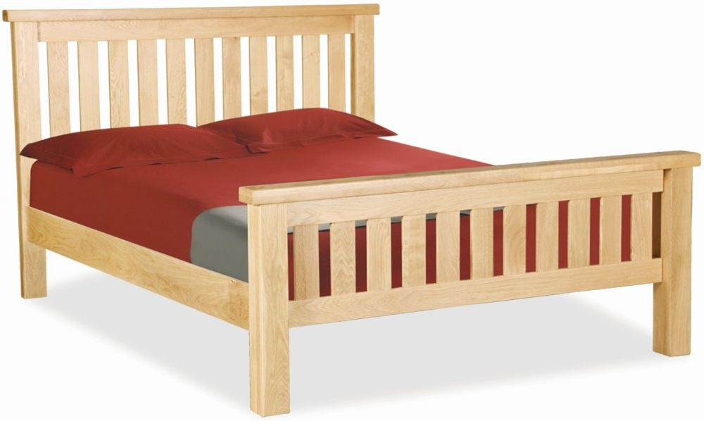 Global Home York Oak Slatted Bed