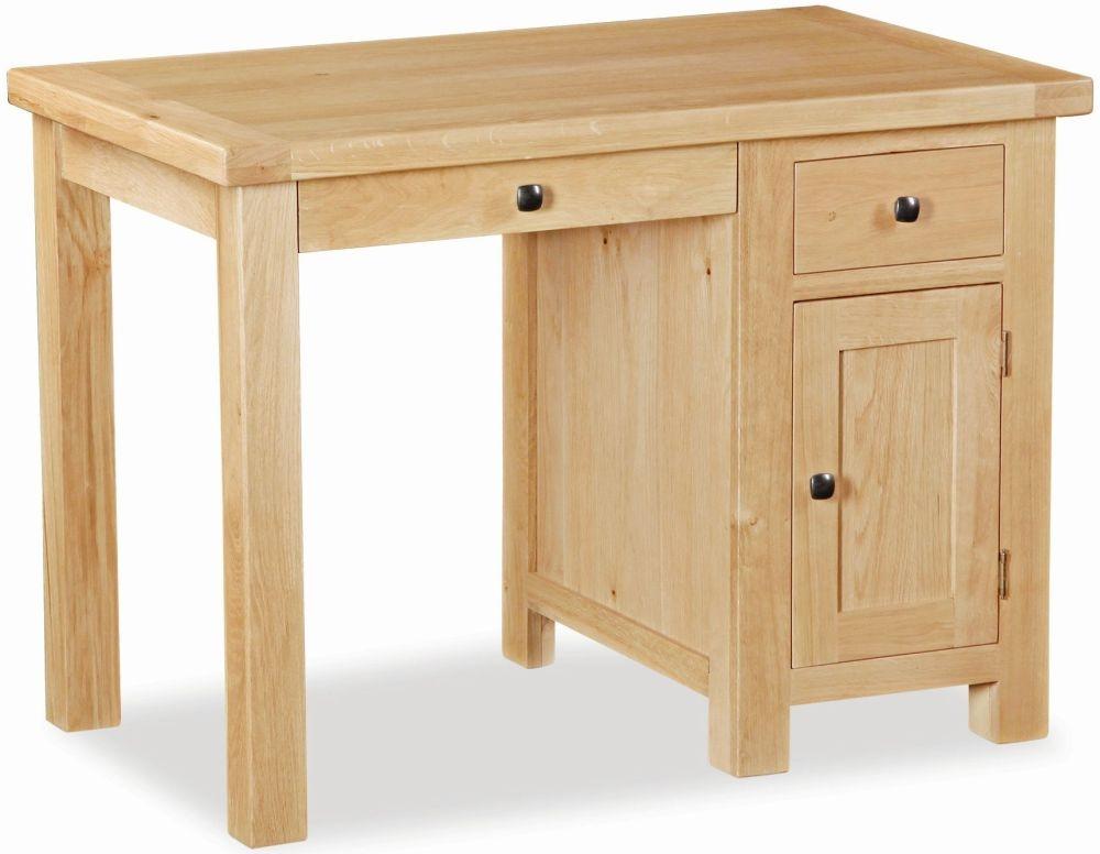Global Home York Oak Desk - Single