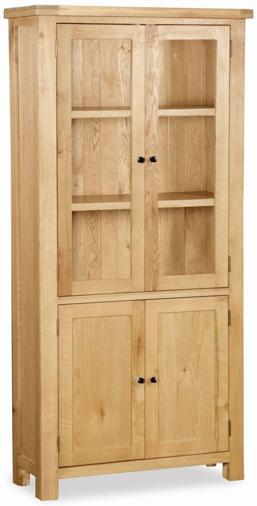 Global Home York Oak Display Cabinet
