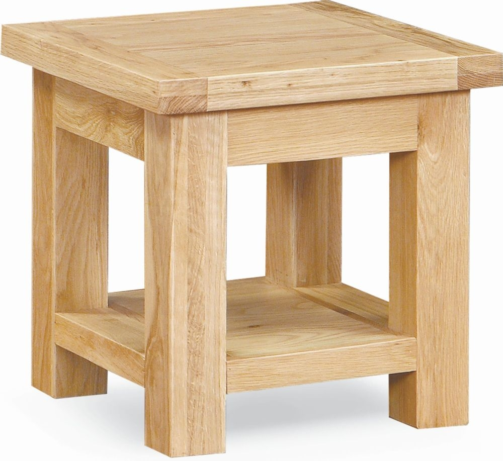 Global Home York Oak Lamp Table