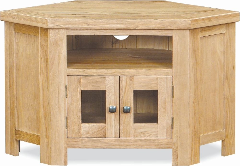 Global Home York Oak 2 Door Corner TV Unit